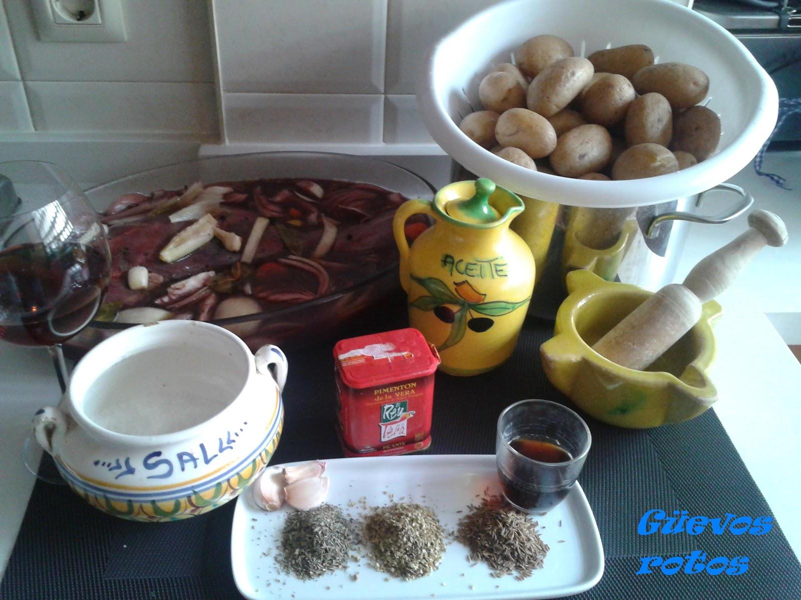G evos rotos pata de corzo al horno suministros el moli for Corzo con patatas
