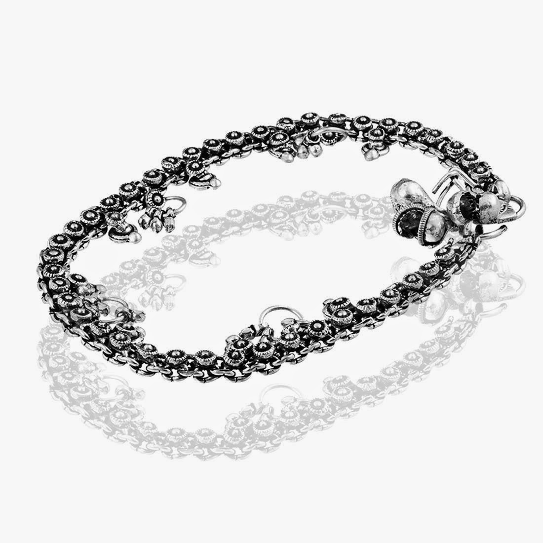 silver women anklet online beautiful for shopping anklets