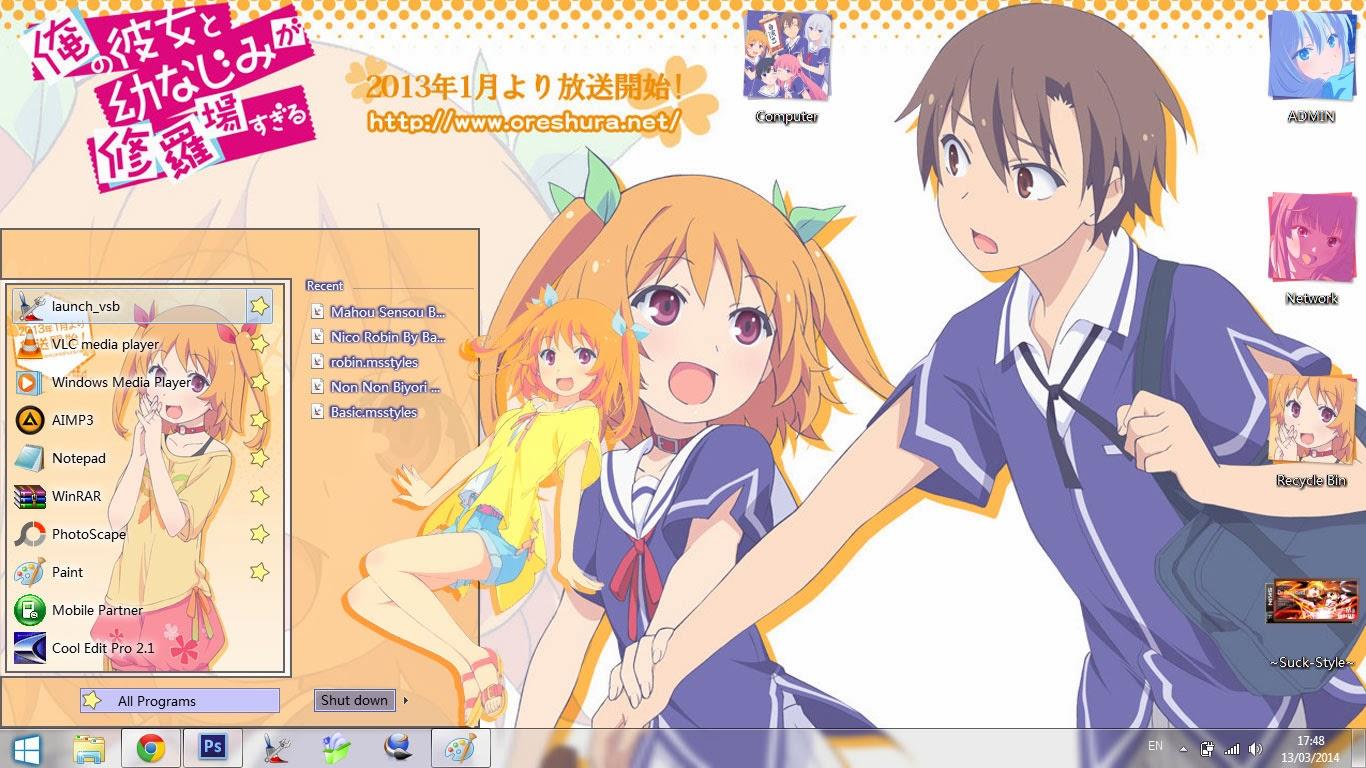 [Theme Win 7] Ore no Kanojo to Osananajimi ga Shuraba Sugiru By Bashkara Image 2 - Suck-Style