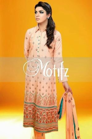 Motifz Cambric embroidery Party Wear Outfit 2015 For Women