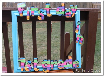 photo of First day of school frame for elementary school