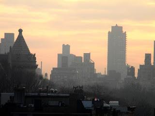Sunrise over Central Park New York City