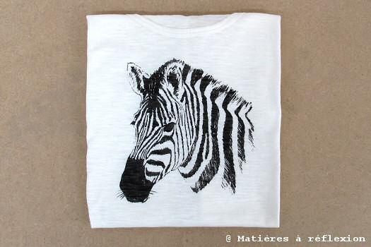 T-shirt Zèbre Charlotte Sometime