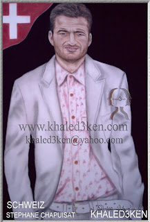 DRAWING PORTRAIT GALLERY FOOTBALL swiss stephane chapuisat KHALED3KEN