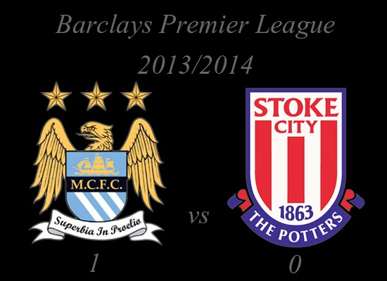 Manchester City vs Stoke City Barclays Premier League February 2014