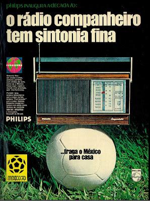 anúncio rádio philips 1970, história da década de 70; Brasil nos anos 70; Brazil in the 70s. Oswaldo Hernandez.