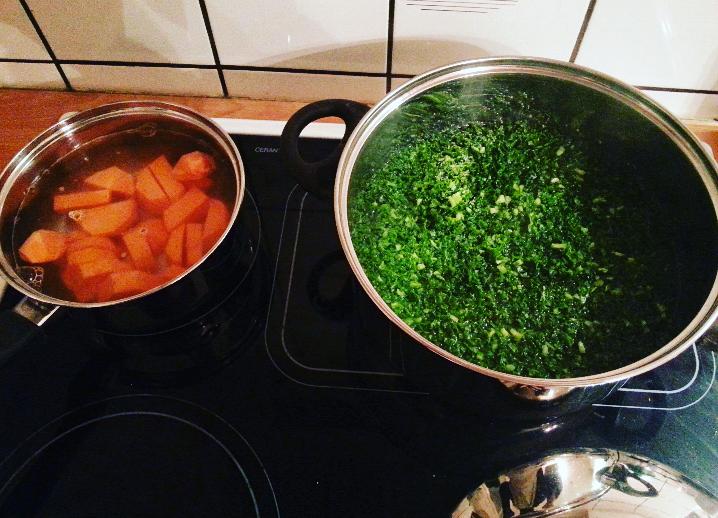 zoete aardappel eerst koken dan bakken