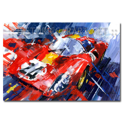 Vintage Auto Racing Poster on Car Art  Automotive Fine Art And Vintage Posters News   April 2011
