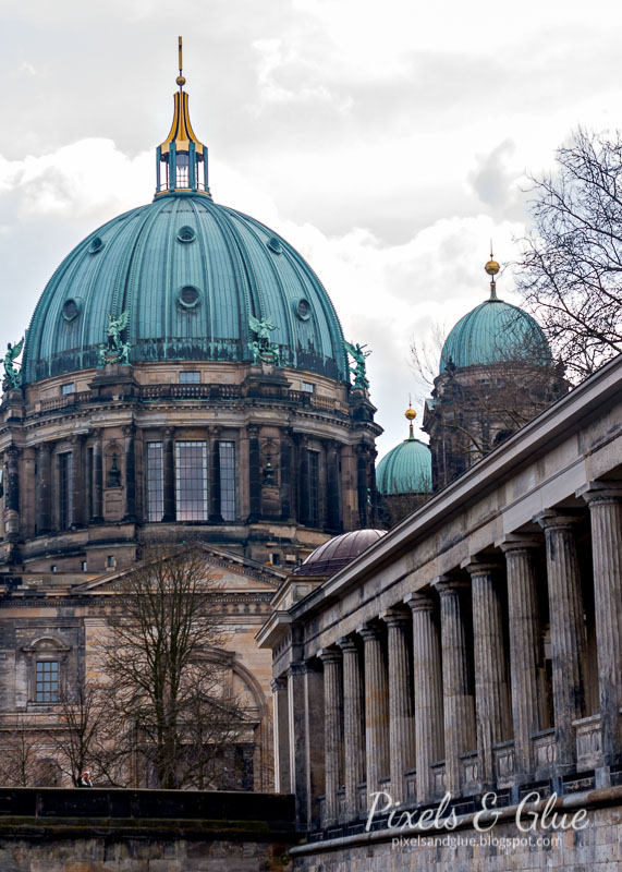 Berlin Cathedral as seen from the river Spree; photo by @pixnglue