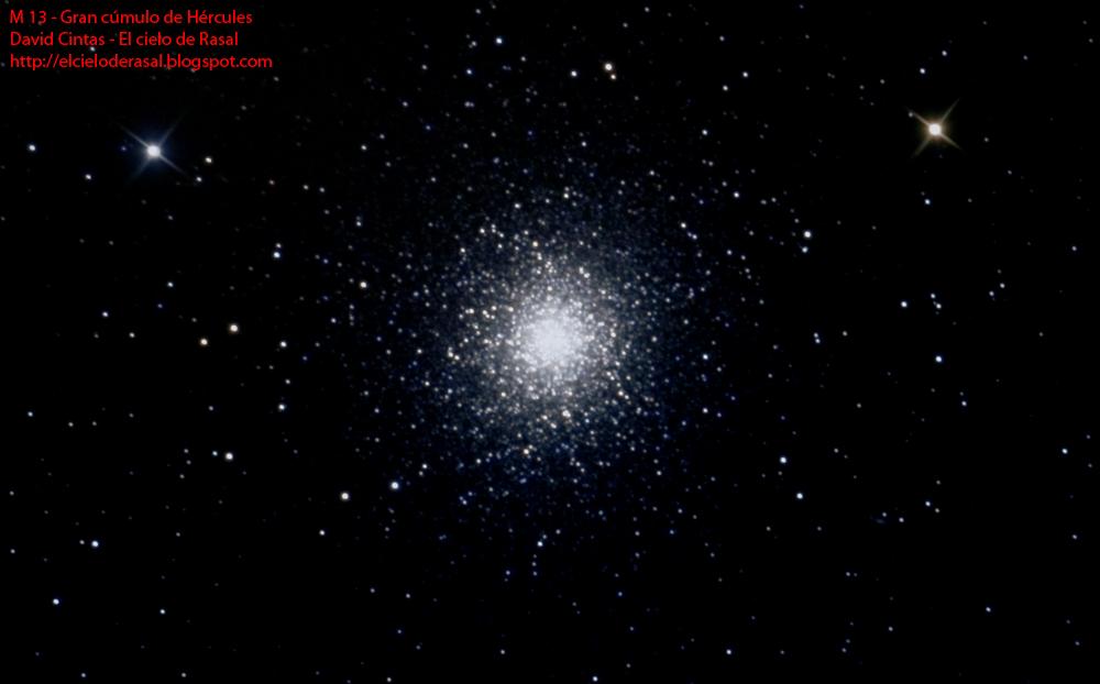M 13 Gran cúmulo de Hércules - El cielo de Rasal