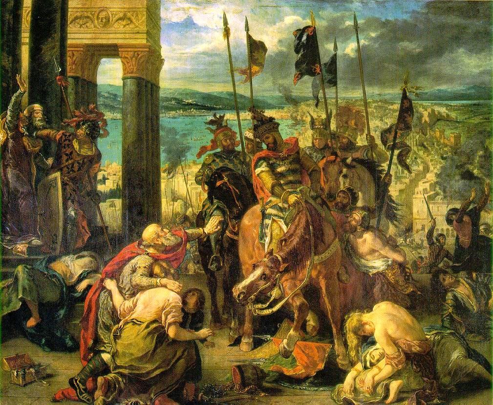 Cruzados entran en Constantinopla