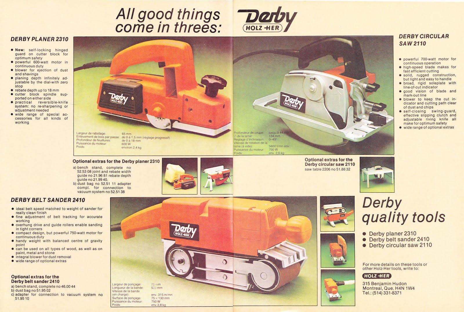 Progress is fine, but it's gone on for too long.: Vanished tool brands: Holz-Her Derby power ...