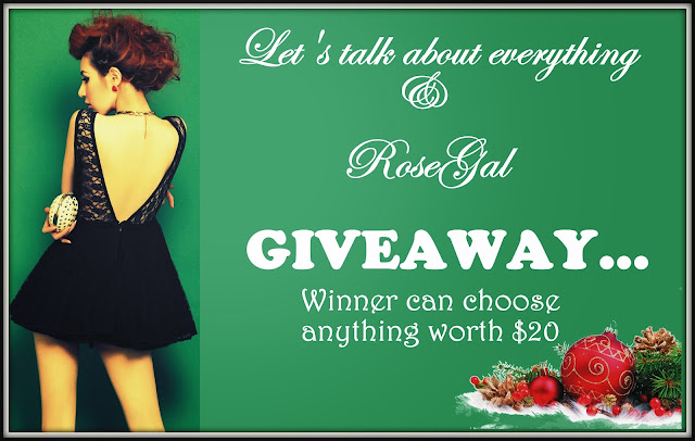 Giveaway by- Lets talk about everything
