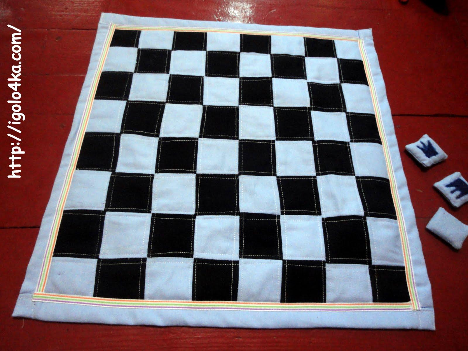 Коврик Шахматное поле из ткани