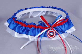captain america wedding garter