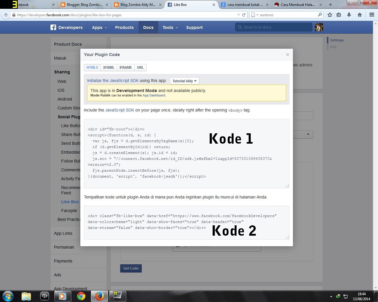 Script / Kode Kotak Like Fanspage Facebook