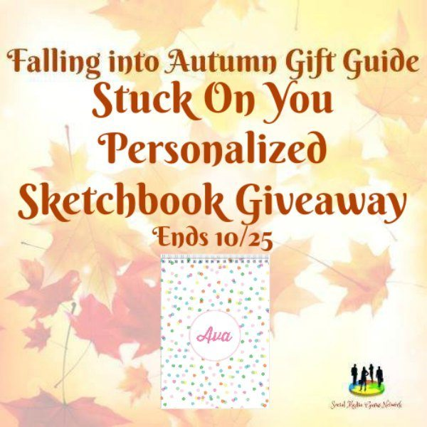 Stuck On You Personalized Sketchbook