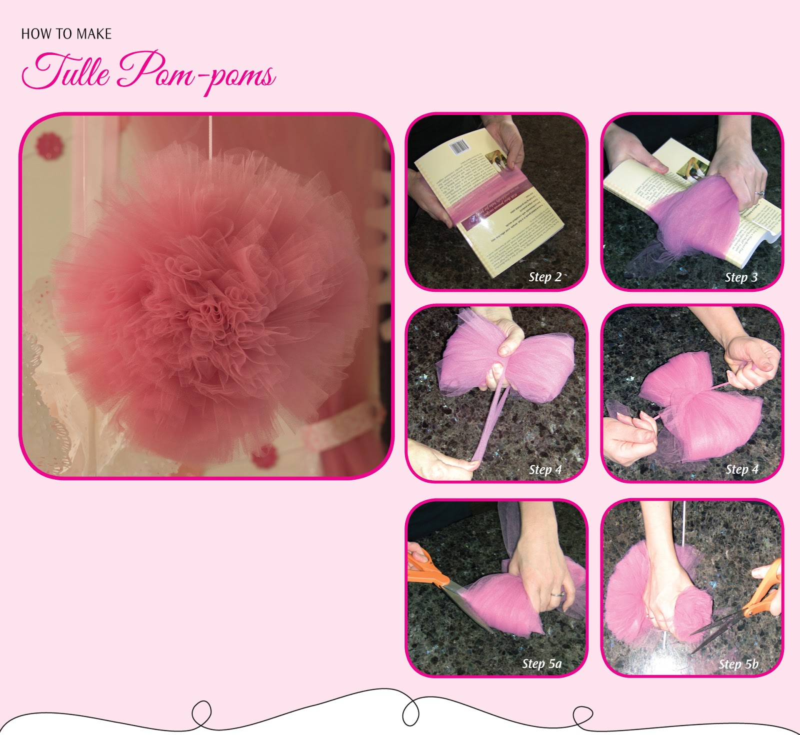 Piece of cake party planning book blog do it yourself for Do it yourself pom poms