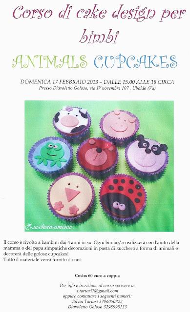 Corso Di Cake Design Varese : Zuccherosamente...: Animals cupcakes - Corso di cake ...