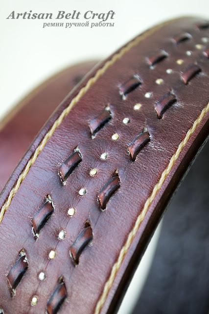 кожаный ремень табачного цвета