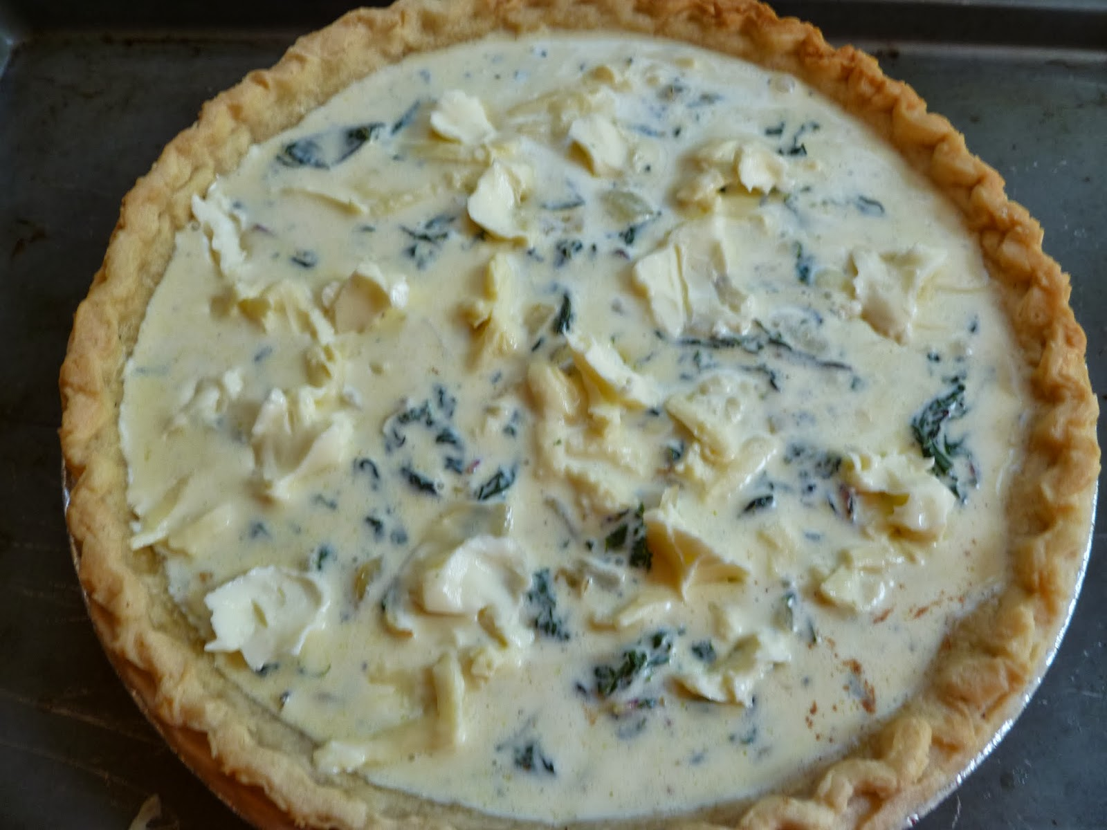 Lindaraxa: Swiss Chard, Onion And Gruyere Quiche