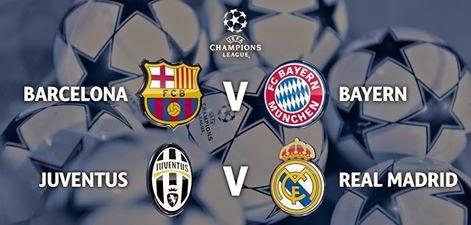 Barça-Bayern et Juve-Real en demi-finales de la Ligue des champions
