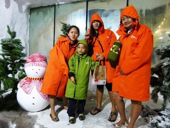 snow village, manla ocean park
