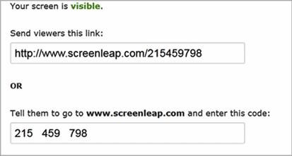 screenleap invitaiton link