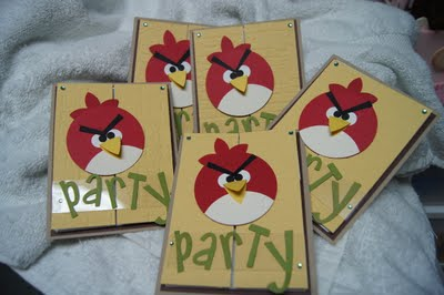 Angry Birds party ideas invite
