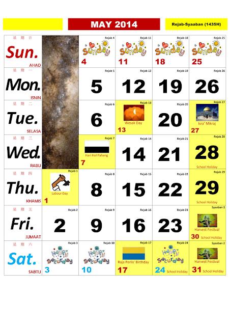 Calendar Kuda : Kalendar malaysia cikgu moka