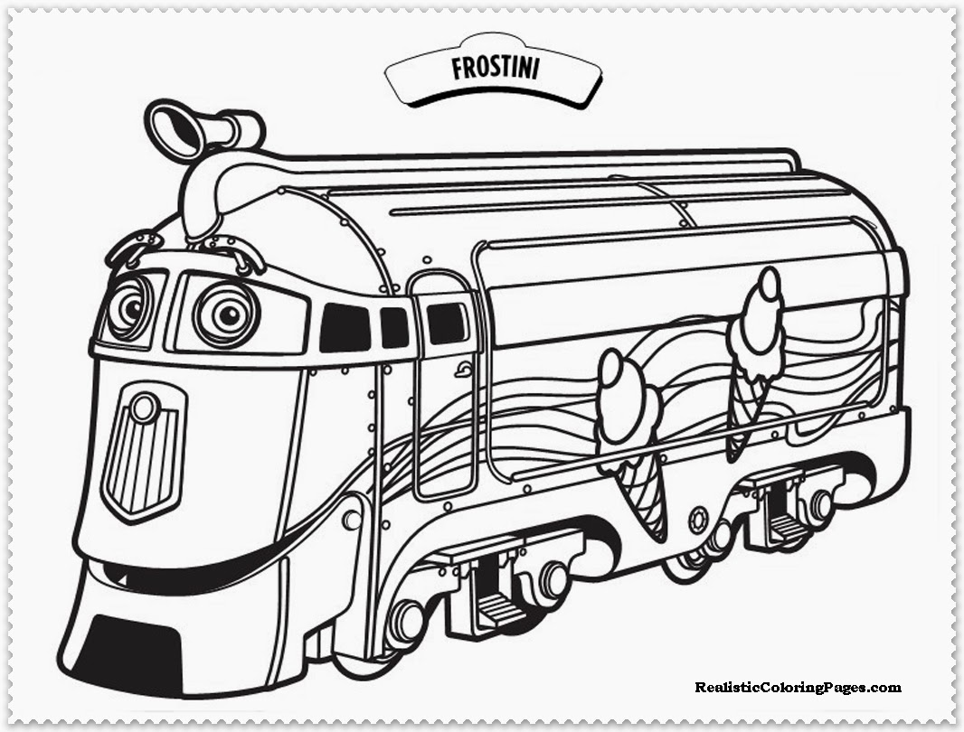 chuggington coloring pages frostini