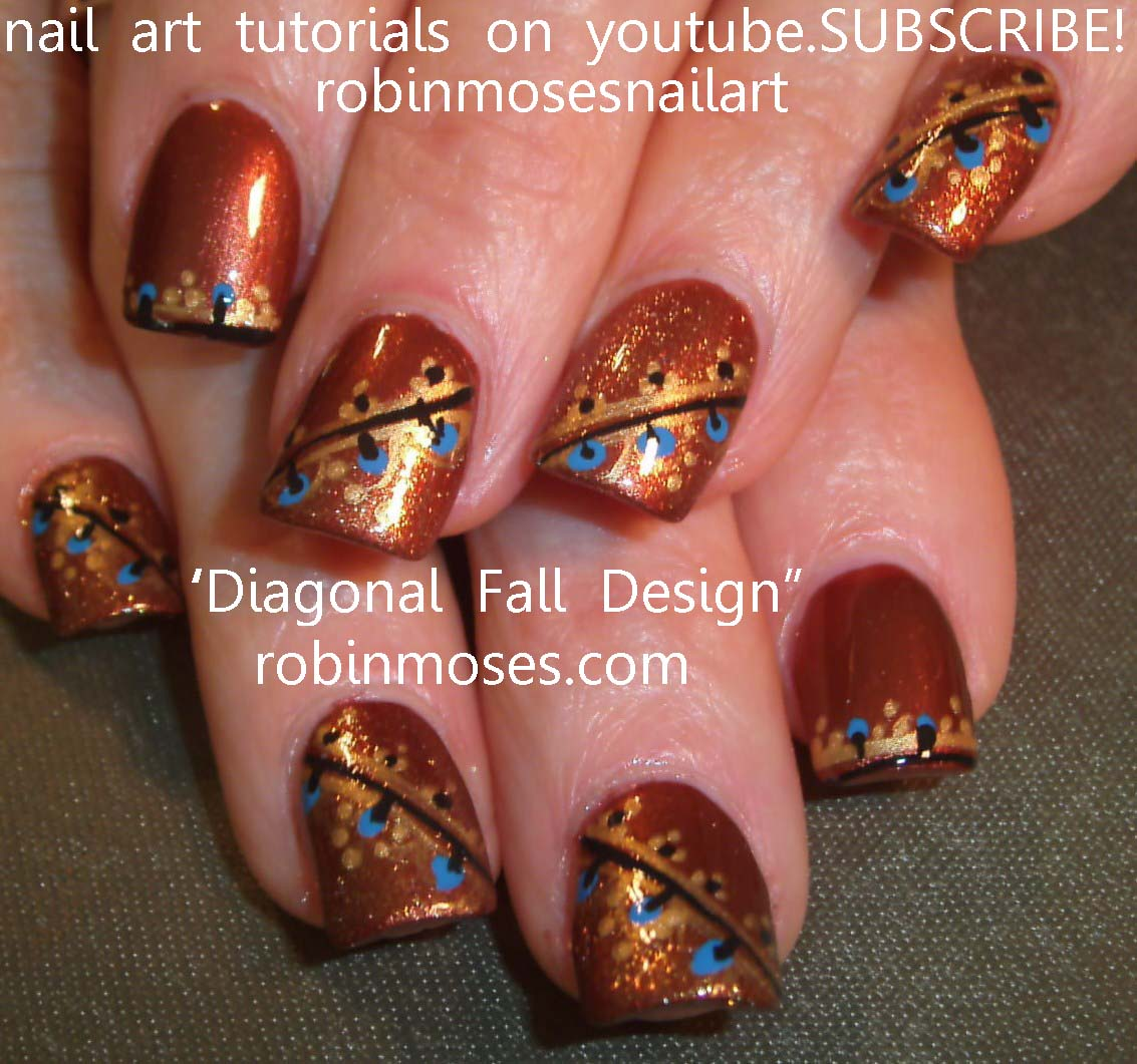 autm outfit Nail Art Design simple autumn leaves, autumn