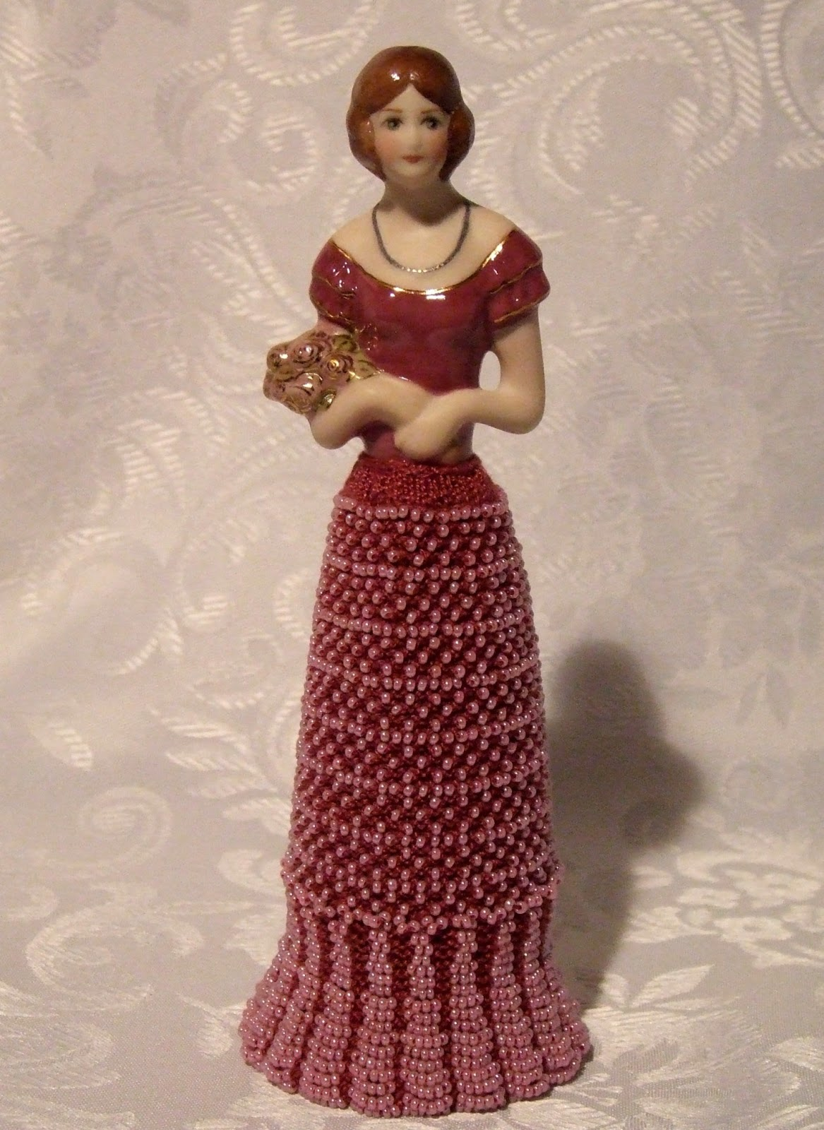 Beaded Knitting Patterns Half Dolls : Beading Belles: Half Doll Rebecca