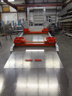 Brokk outrigger support matting is custom designed to each Brokk model.