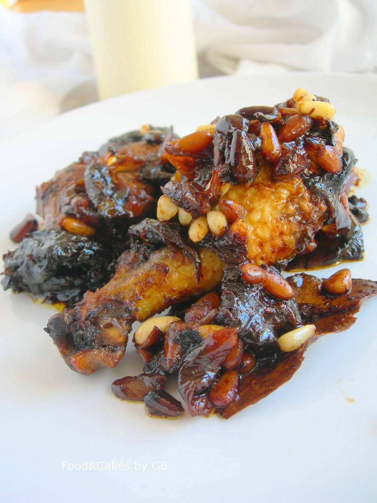 """Pollo a la Catalana con ciruelas y piñones - """"Los platos de mi madre"""" (2)"""