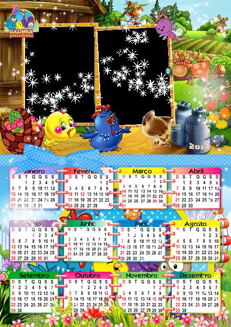 Lindo calendário da galinha pintadinha 2013 - calendário 2013 da ...