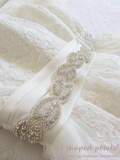 Sash with rhinestones for wedding dresses