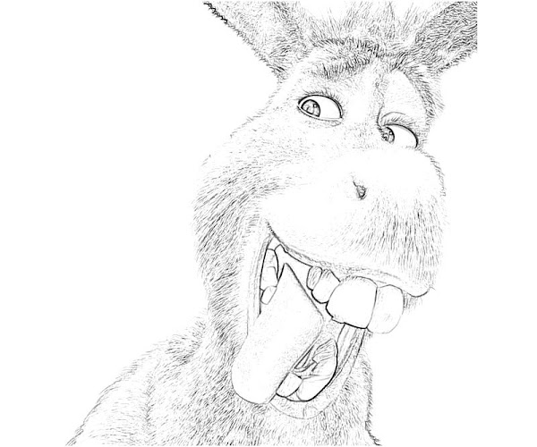 Cute Donkey Coloring Pages