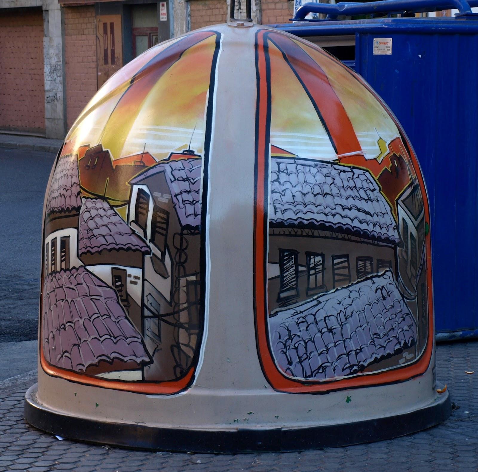Arte en contenedores de vidrio. PB+Contenedores