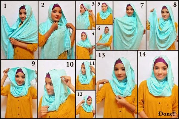 Cara Memakai hijab jilbab
