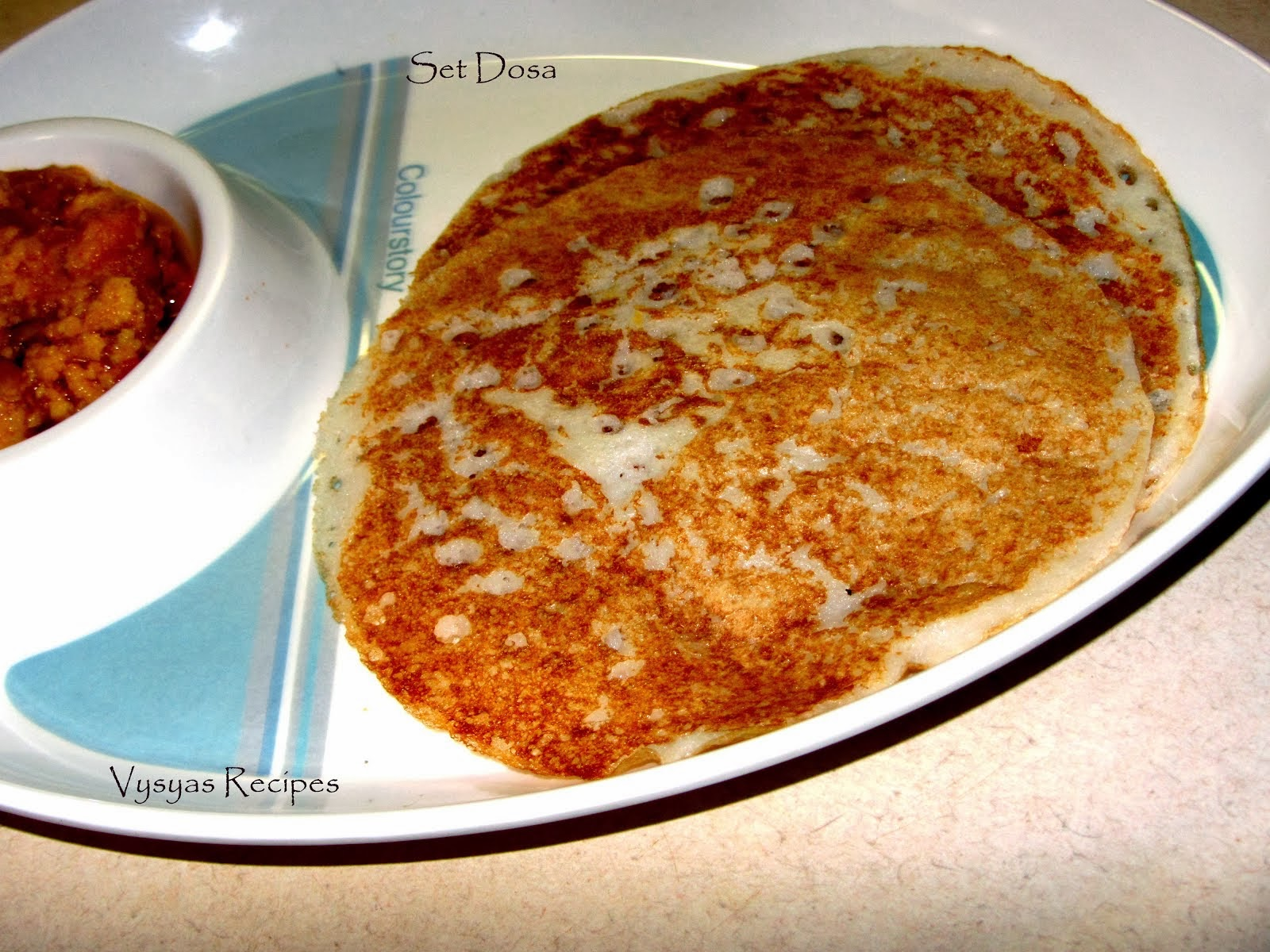 Set Dosa With Vadakari