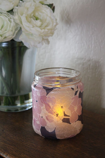 recycling jar for candle stick