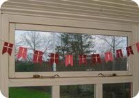 Klippe og klister flag DIY