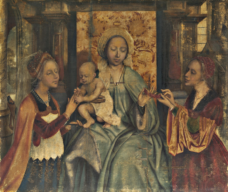 Quinten Massys - The Virgin and Child with Saints Barbara and Catherine