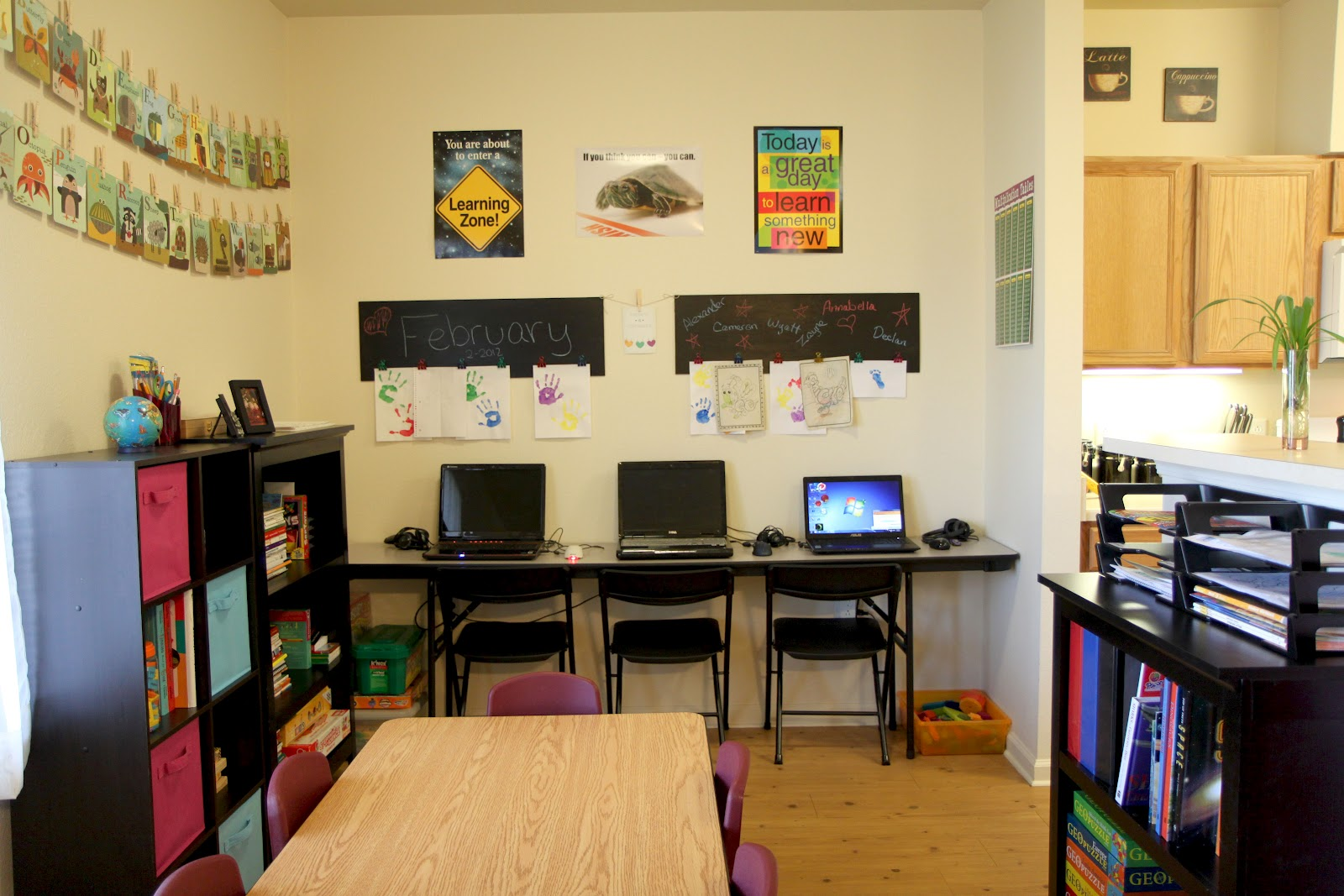 Homeschool Classroom Design ~ Organized chaos the evolution of our homeschool room