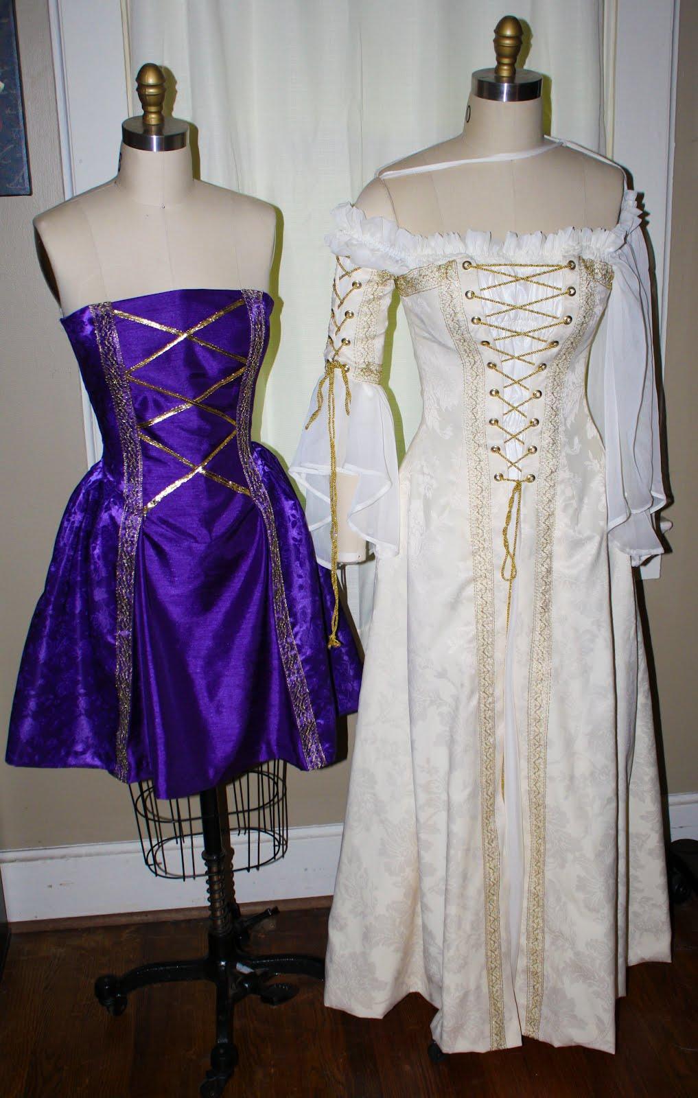 Morningstar Pinup: Renaissance Wedding Gown & Bridesmaids Dresses
