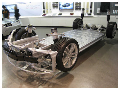 Tesla Model S Chassis and Battery