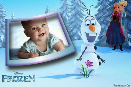 Montagem de fotos Frozen da Disney