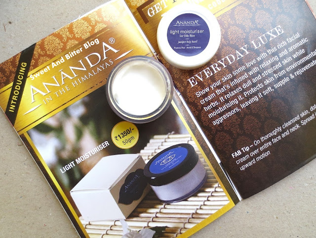 Ananda in the Himalayas Light Moisturiser for Oily Skin