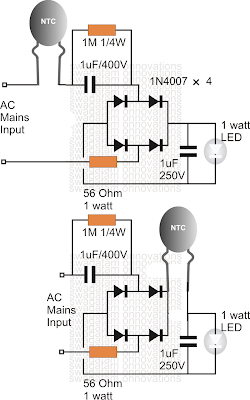 only wiring and diagram  using an ntc thermistor as a